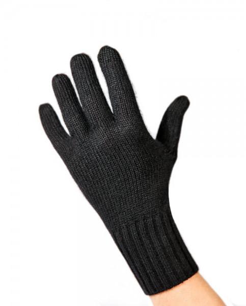 schwarze kaschmir handschuhe