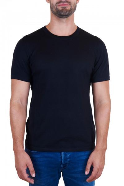 schwarzes kaschmir rundhals herren t-shirt frontfoto