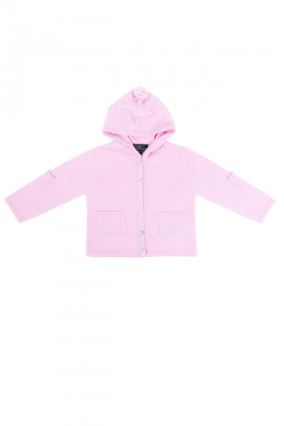rosa kaschmir baby kapuzenpullover