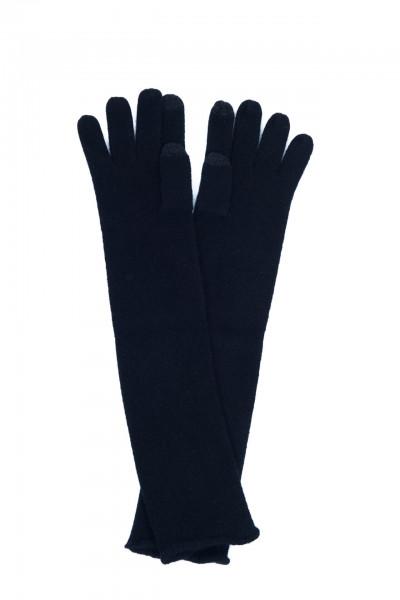 lange schwarz kaschmir handschuhe