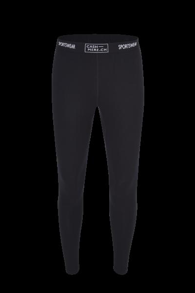 High Performance Kaschmir Sportwäsche Leggings schwarz von vorne