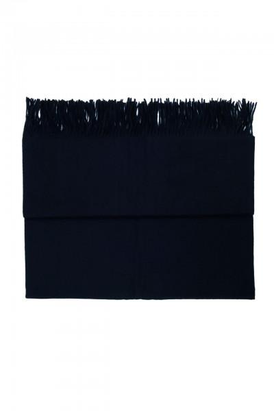 schwarze kaschmir decke mit fransen